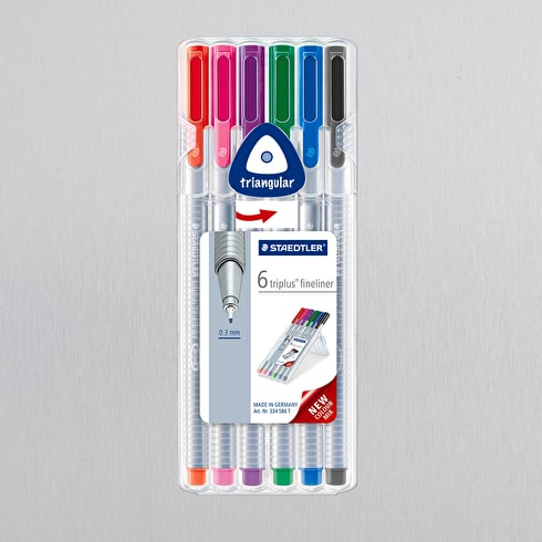 Staedtler Triplus Fineliner Assorted Colour Set of 6