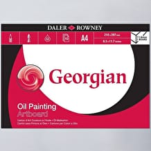 Daler Rowney Georgian Oil Painting Artboard 10 Sheets A4