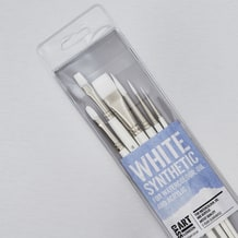 Cass Art White Synthetic Brushes Set of 6