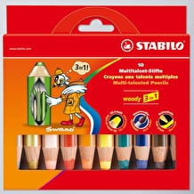 Stabilo Woody Wallet Set of 10 Assorted Colours