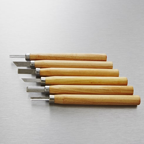 Jakar Wood Carving Mini Chisel Set with 6 Assorted Steel Blades