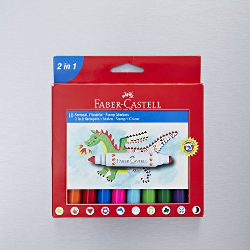 Faber Castell Stamp Markers Box Assorted Colours Set of 10