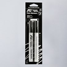 Daler Rowney FW Medium Round Empty Markers + 2 Nibs 1-2mm Set of 2
