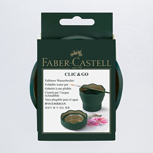 Faber-Castell Watercup Click and Go Green | Faber Castell Watercolour Accessory | Cass Art