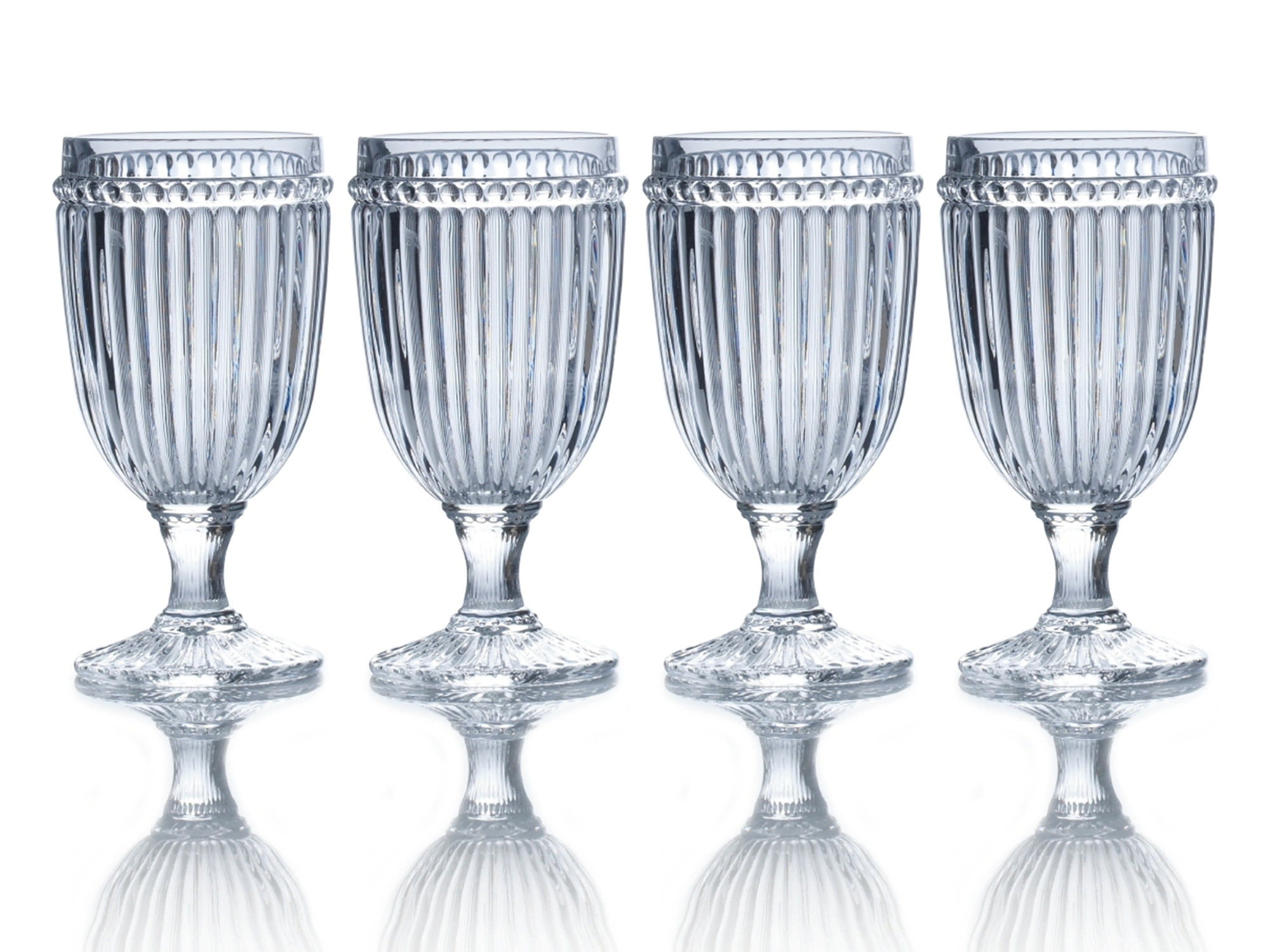 Mikasa Italian Countryside Set Of 4 Iced Beverage 13Oz Glasses Clear