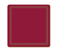 Creative Tops Classic Pack Of 6 Premium Coasters Red