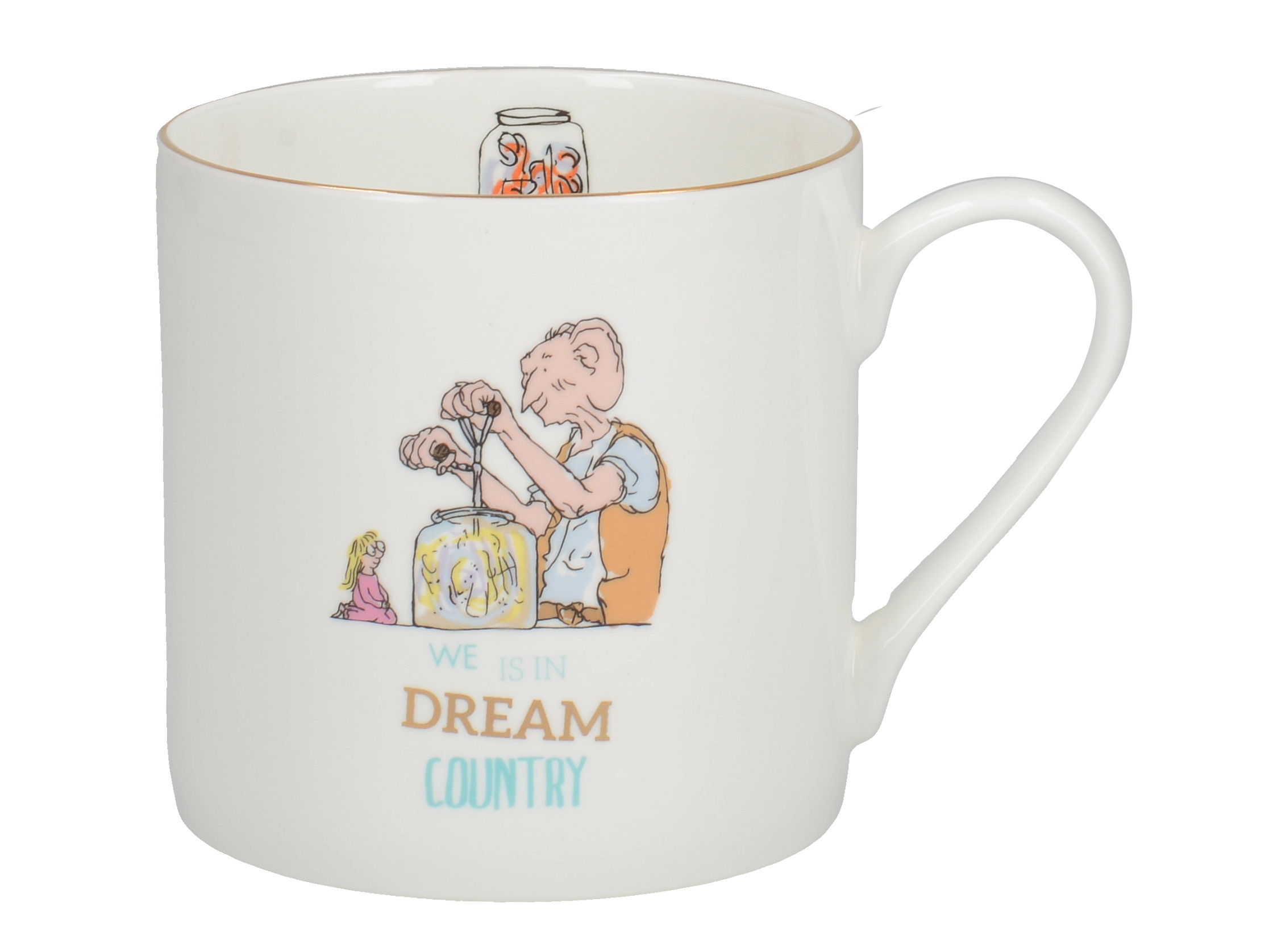 Roald Dahl Bfg Fine Bone China Can Mug With Rose Gold Details