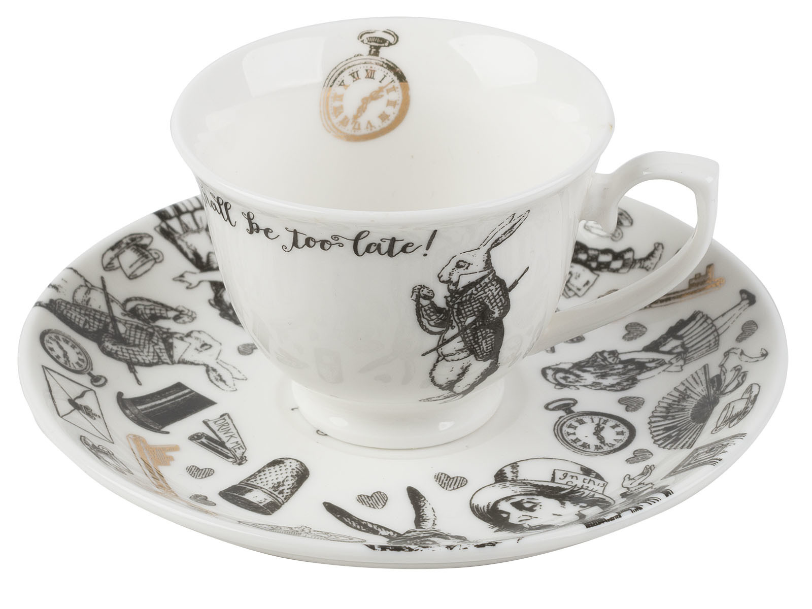 Victoria And Albert Alice In Wonderland Espresso Cup And Saucer