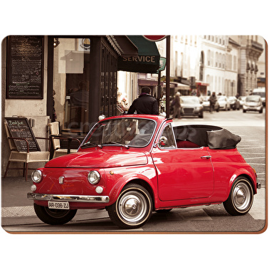 Everyday Home Retro Fiat Pack Of 2 Large Placemats