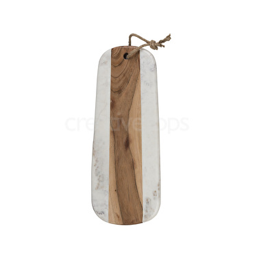 Creative Tops Naturals Long Marble Acacia Serve Board