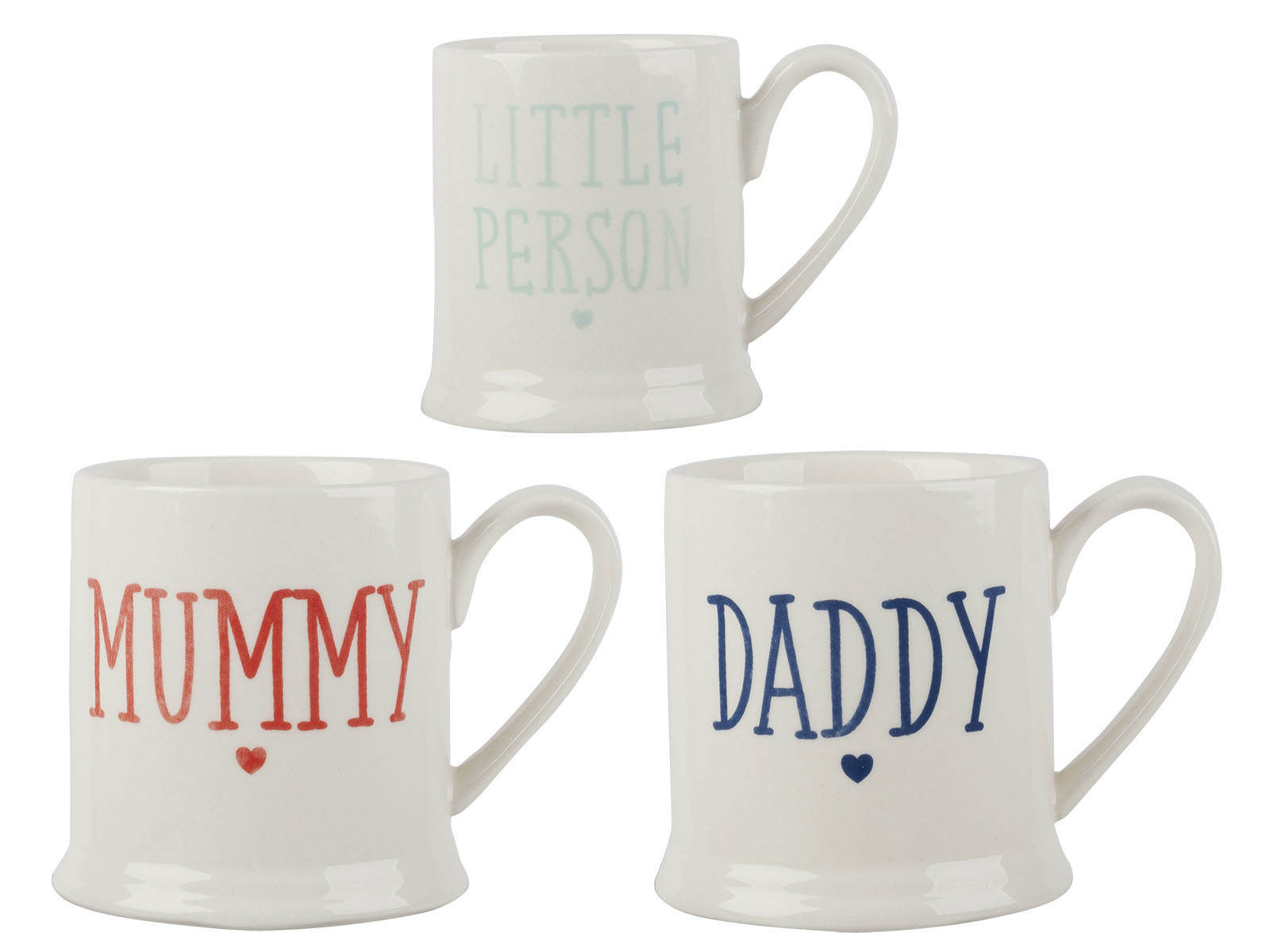 Creative Tops Family Set Of 3 Tankard Mugs