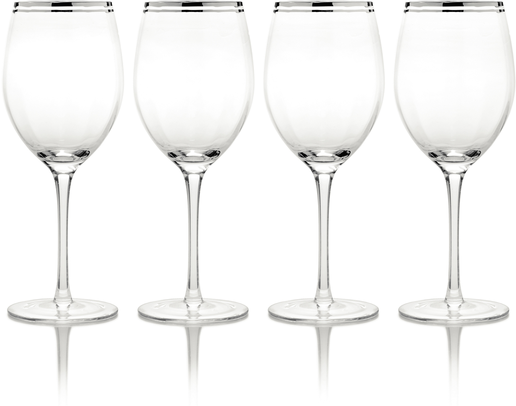 Mikasa Haley Set Of 4 Platinum 19Oz Goblets