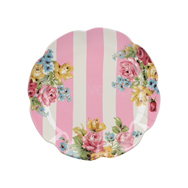 Katie Alice Blooming Fancy Stripe Side Plate
