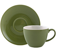 Randwyck Coffee 280ml Cup And Saucer Green