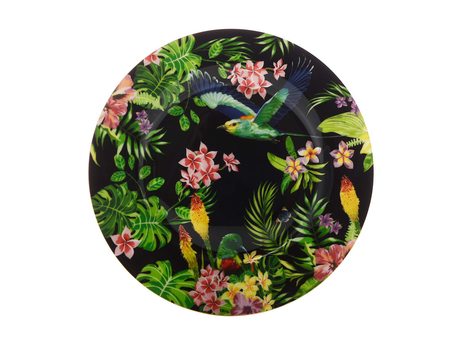Maxwell & Williams Cashmere Birds Of Paradise Plate Black