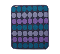 Built Reversible Dish Dry Mat 16x18in Plum Dot