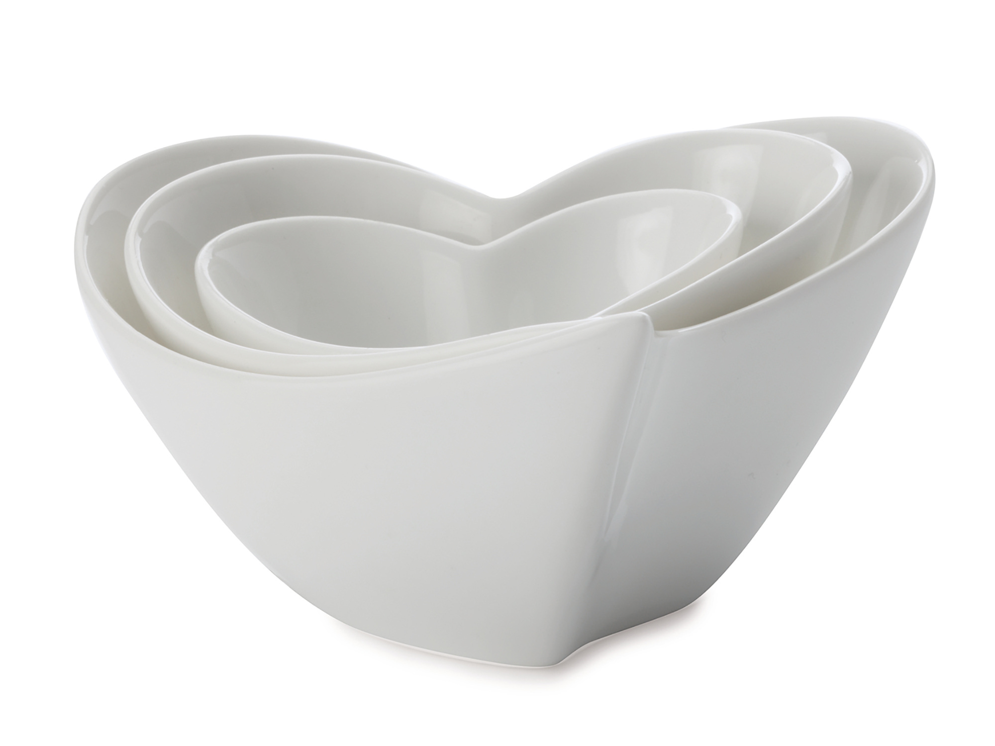 Maxwell & Williams White Basics Heart Set Of 3 Dip Dish Gift Boxed