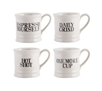Creative Tops Bake Stir It Up Set Of 4 Espresso Tankard Mugs