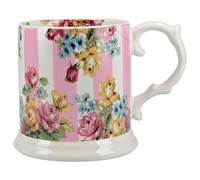 Katie Alice Blooming Fancy Stripe Tankard Mug