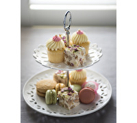Maxwell & Williams Lille 2 Tier Cake Stand Gift Boxed