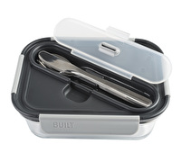 Built Gourmet 30oz Glass Bento Black