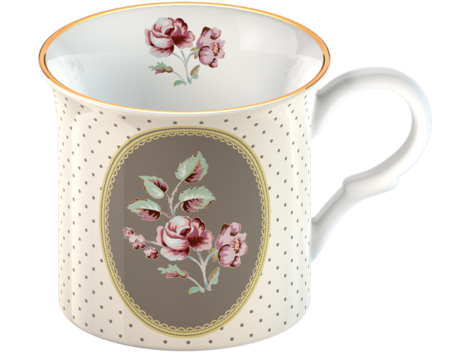 Katie Alice Ditsy Floral Palace Mug White Oval