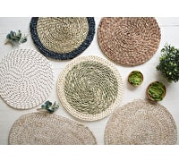 Creative Tops Naturals Rope Effect Pack Of 2 Round Placemats