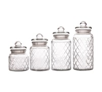 Casa Domani Trellis Set Of 4 Storage Jars Gift Boxed