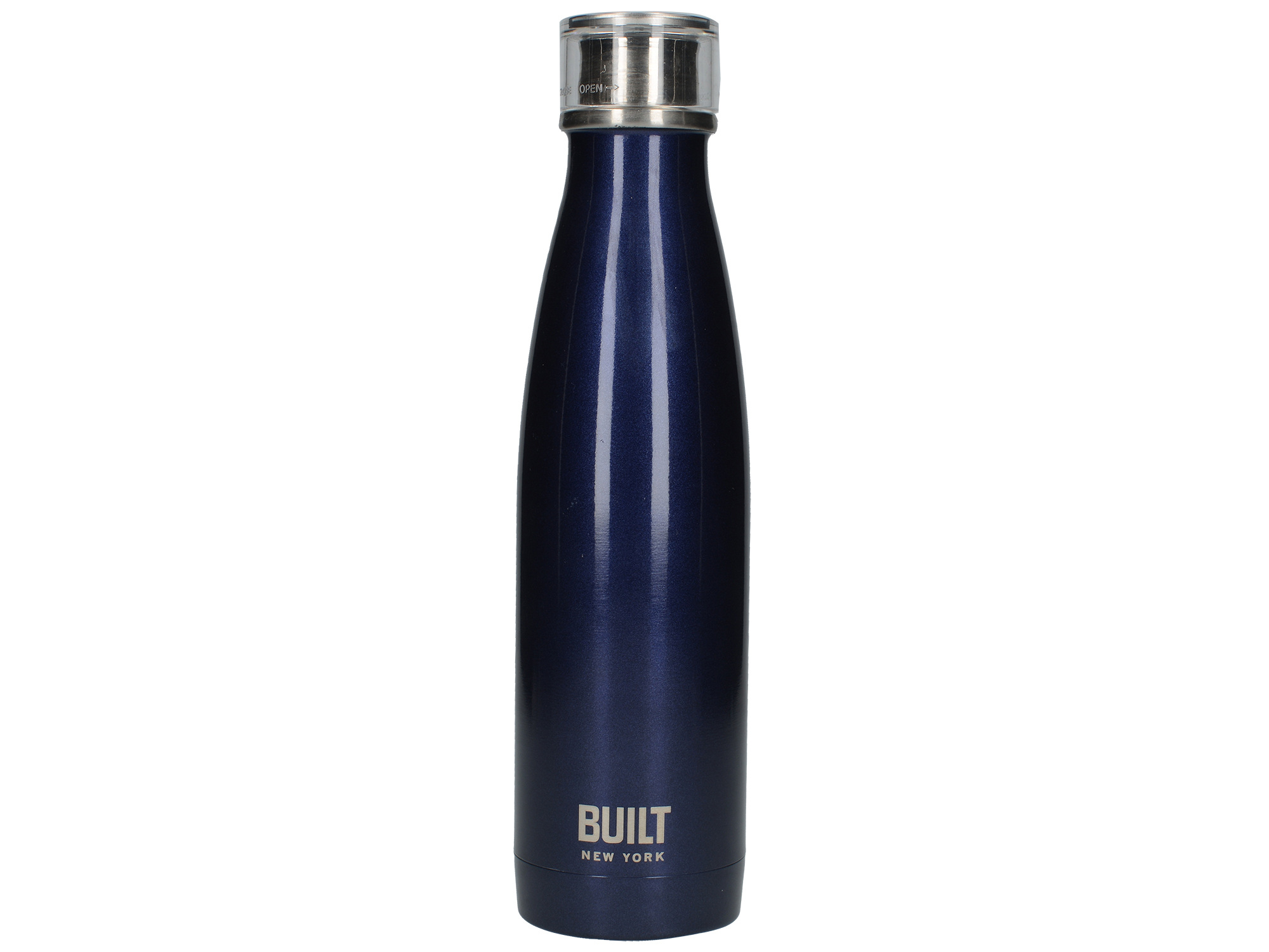 Built 17Oz Double Walled Stainless Steel Water Bottle Midnight Blue