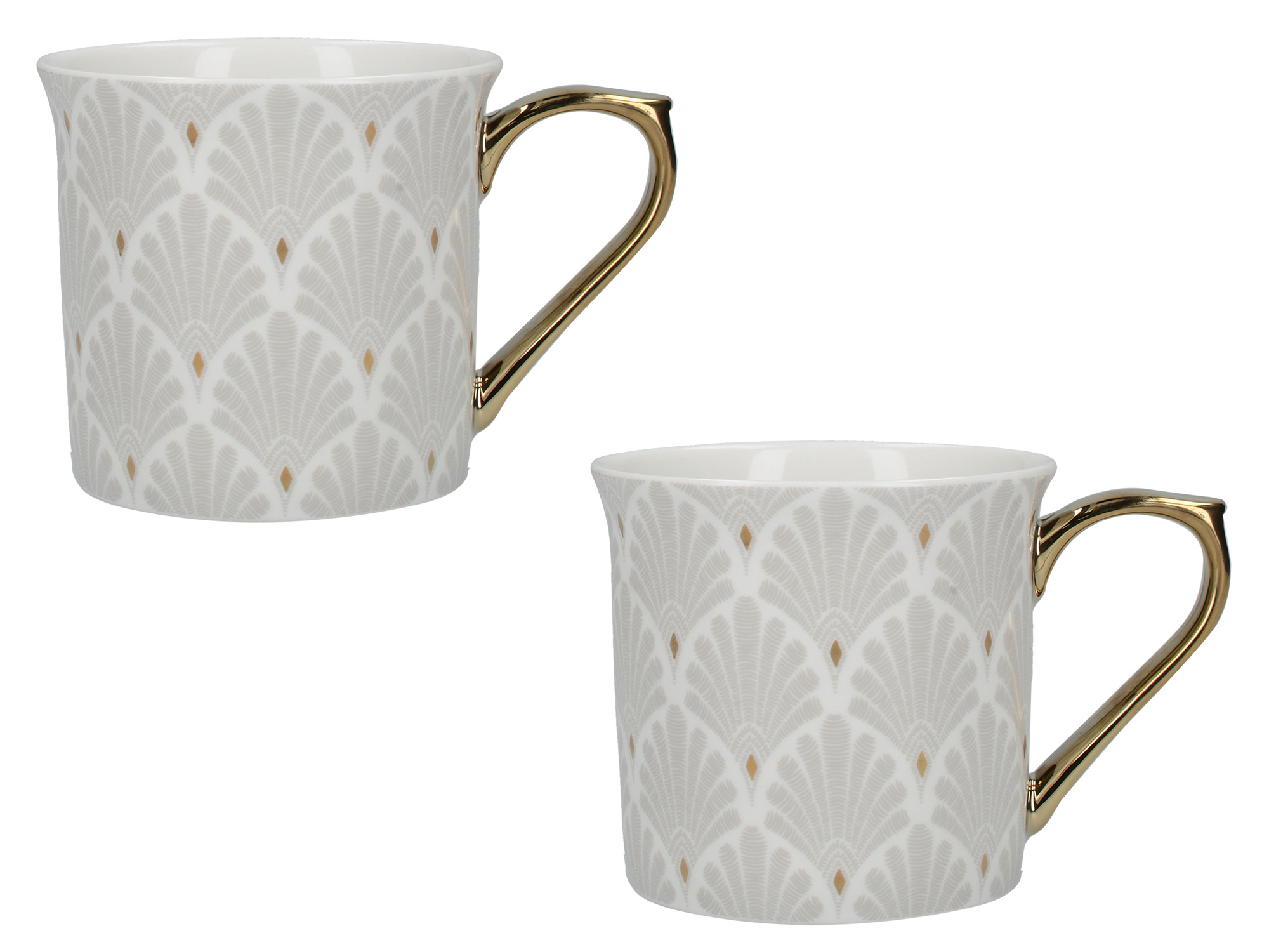 Victoria And Albert Scallop Shells Set Of 2 Palace Mugs White