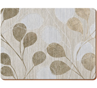 Everyday Home Neutral Leaves Pack Of 4 Placemats