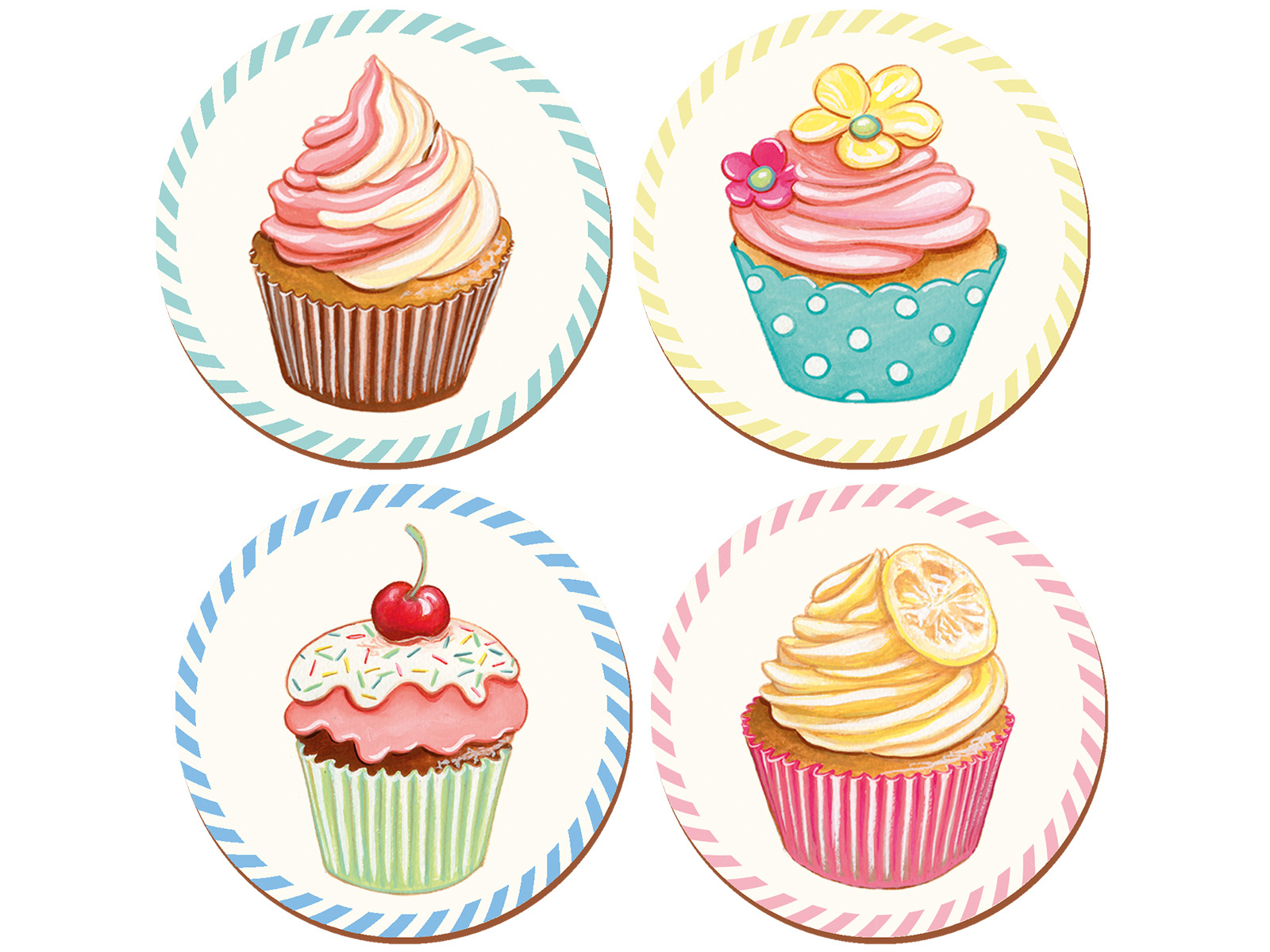 Creative Tops Retro Treats Pack Of 4 Coasters