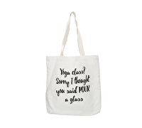 Creative Tops Ava & I Canvas Bag Yoga Slogan