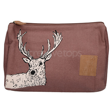 Creative Tops Into The Wild Stag Medium Cosmetic Bag