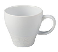 La Cafetiere Core Textured Geo Mug White