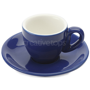 Maxwell & Williams Cafe Culture 70Ml Cup And Saucer Azzurro