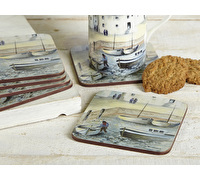 Creative Tops Cornish Harbour Pack Of 6 Premium Coasters
