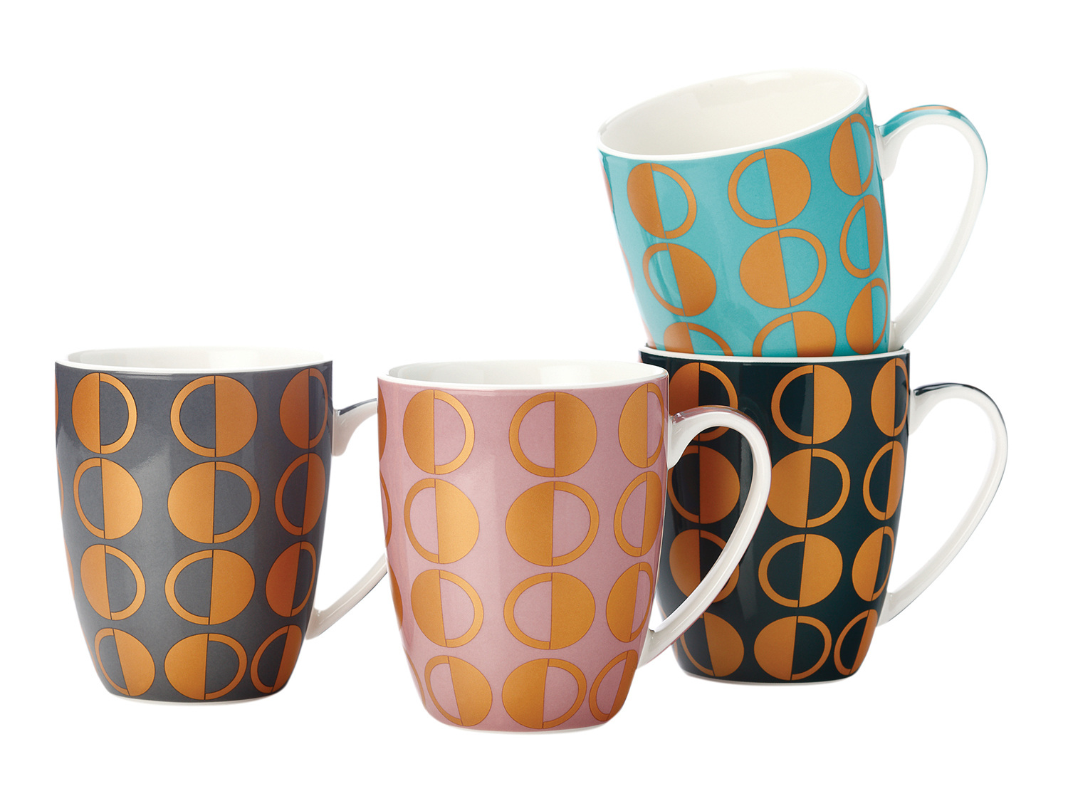 Casa Domani Astor Set Of 4 400Ml Coupe Mugs Gb