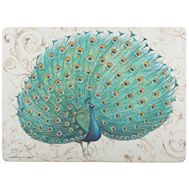 Creative Tops Peacock Pack Of 4 Large Premium Placemats