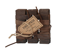 Creative Tops Dark Slatted Wood Pack Of 4 Coasters