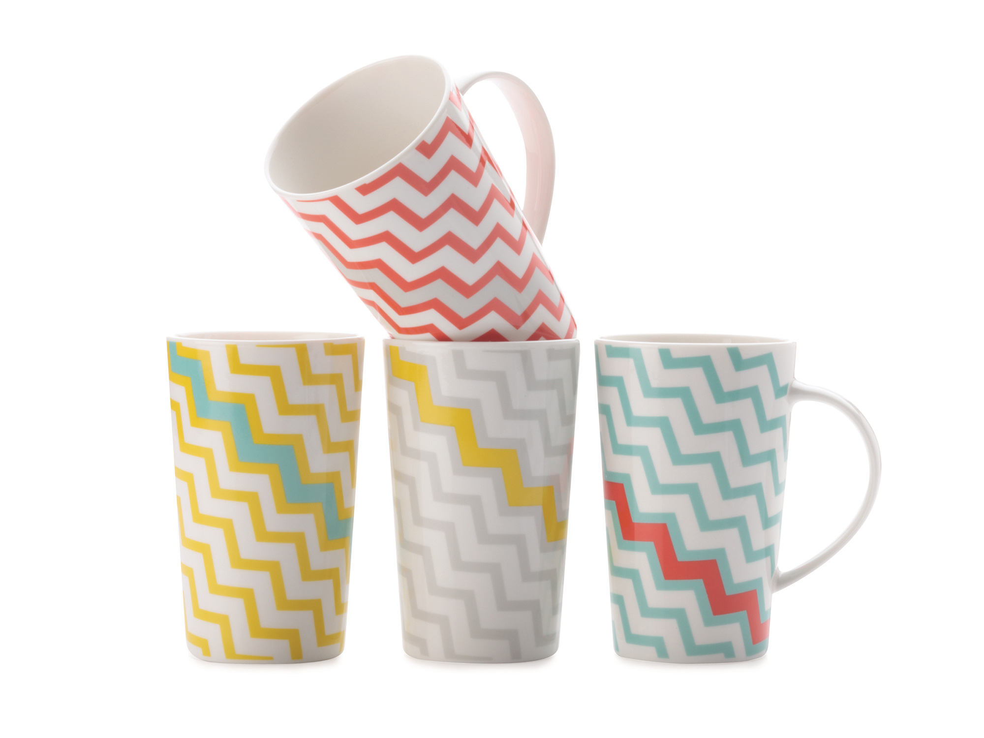 Maxwell & Williams Colour Bolt Set Of 4 Mugs Gift Boxed
