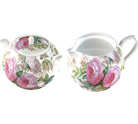Victoria And Albert Brompton Rose Sugar Pot And Creamer