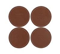 Creative Tops Earlstree & Co Pack Of 4 Faux Leather Coasters