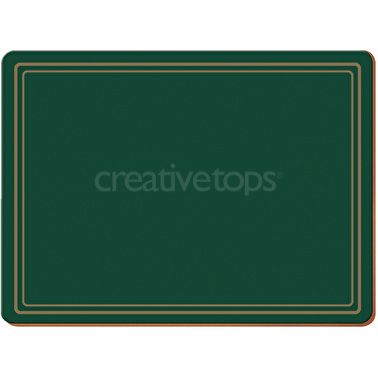 Creative Tops Classic Pack Of 4 Large Premium Placemats Green