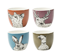 Creative Tops Into The Wild Set Of 4 Egg Cups