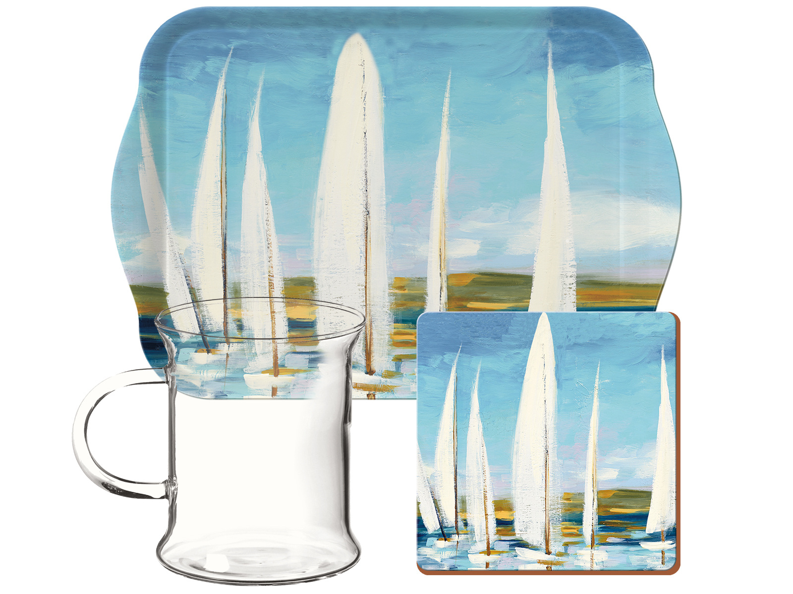 Creative Tops Sailing Boats Glass Time For Tea