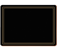 Creative Tops Classic Pack Of 4 Large Premium Placemats Black