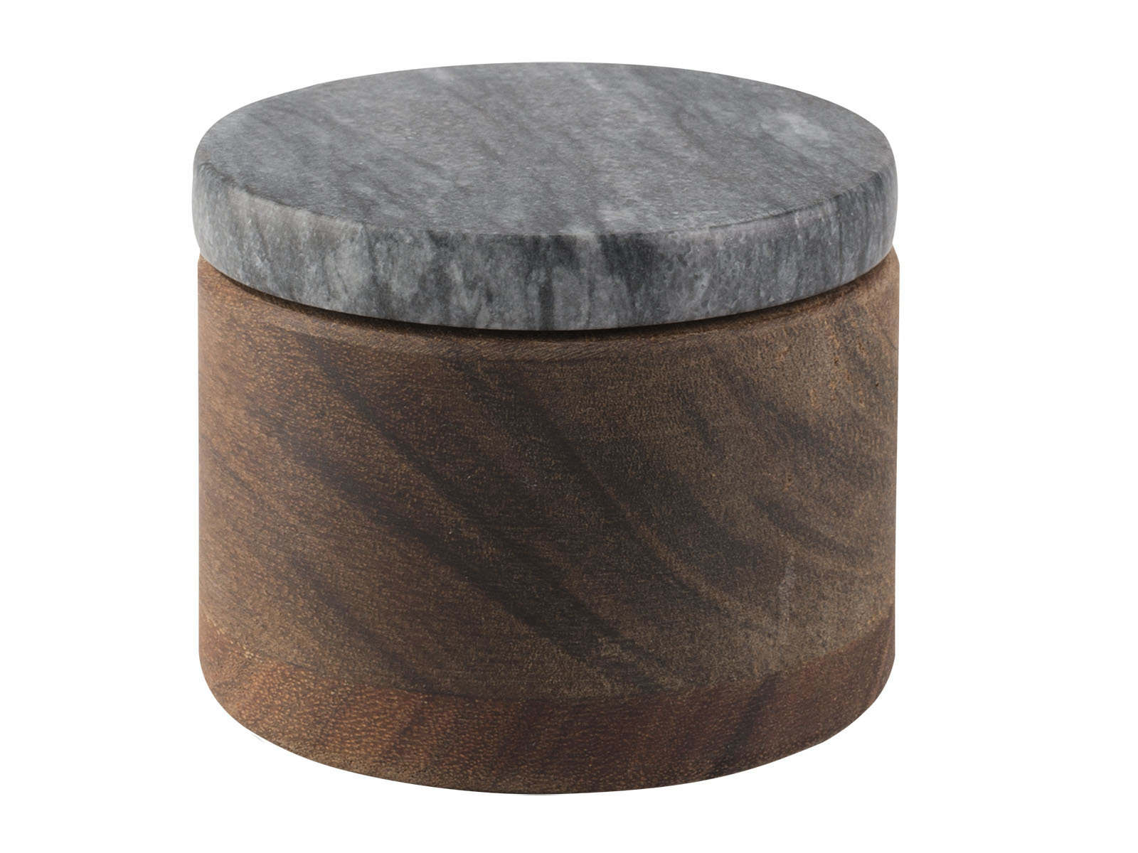 Sabatier Maison Wood Salt Pig With Black Marble Lid