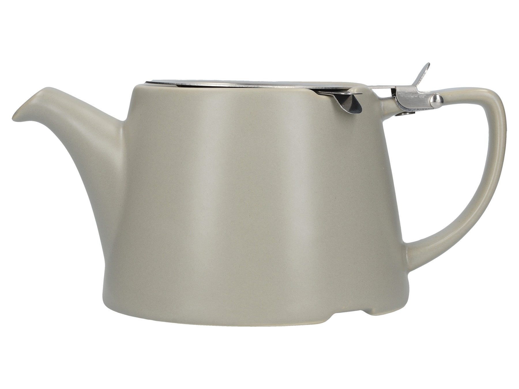London Pottery Oval Teapot Satin Grey