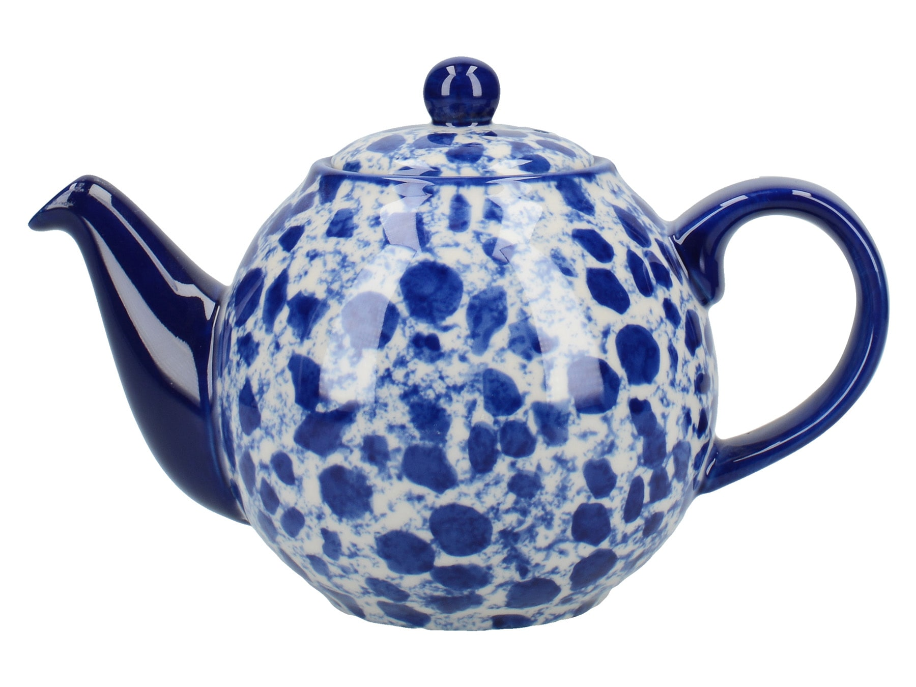 London Pottery Splash Globe 2 Cup Teapot Blue